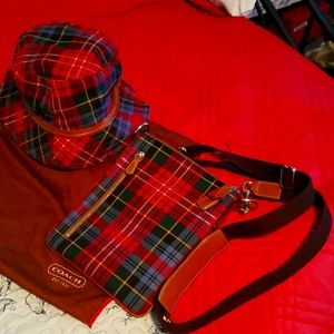 Vintage Coach Crossbody and Hat..Like New!!